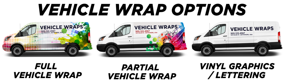 Corona Vehicle Wraps vehicle wrap options