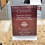 custom counter top sign